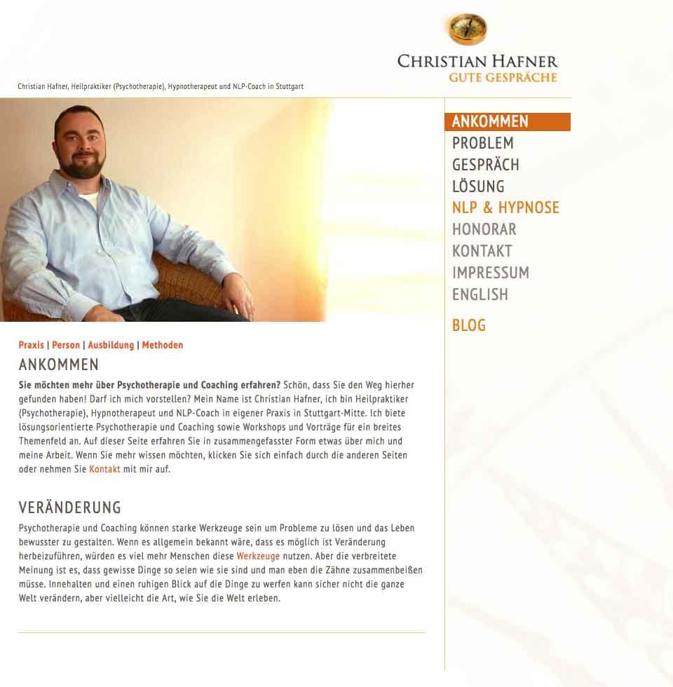 Psychotherapie und Coaching   Christian Hafner