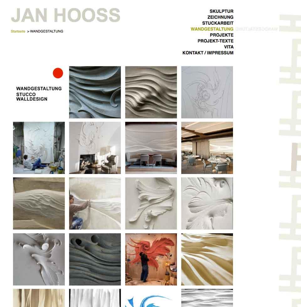 Wandgestaltungen von Jan Hooss