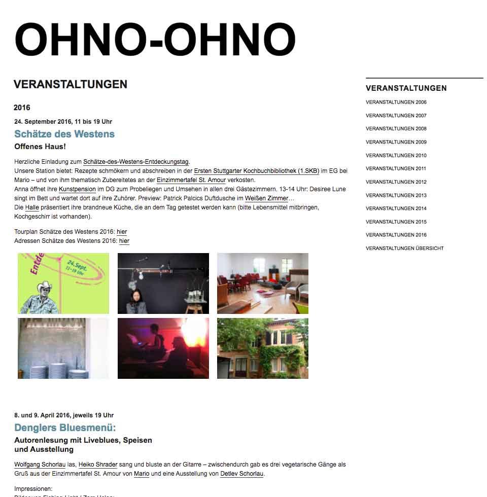 Veranstaltungen bei Ohno Ohno