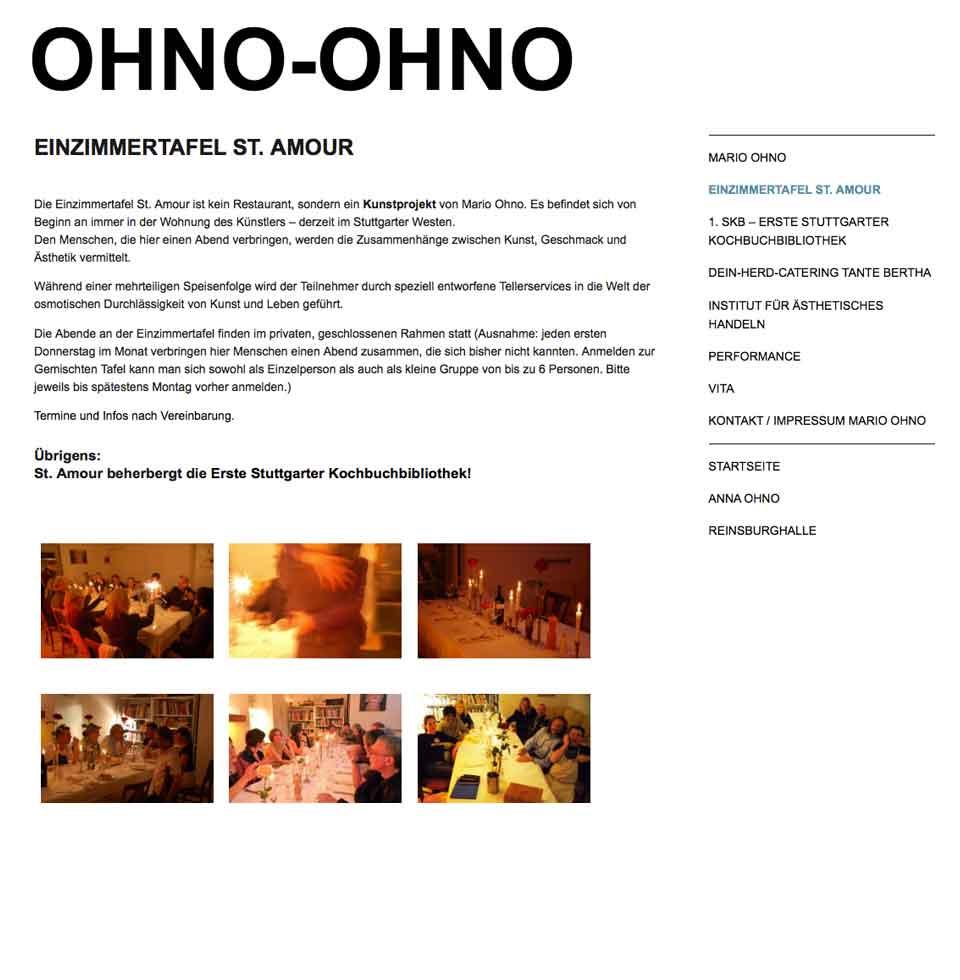 Einzimmertafel St. Amour   Ohno Ohno
