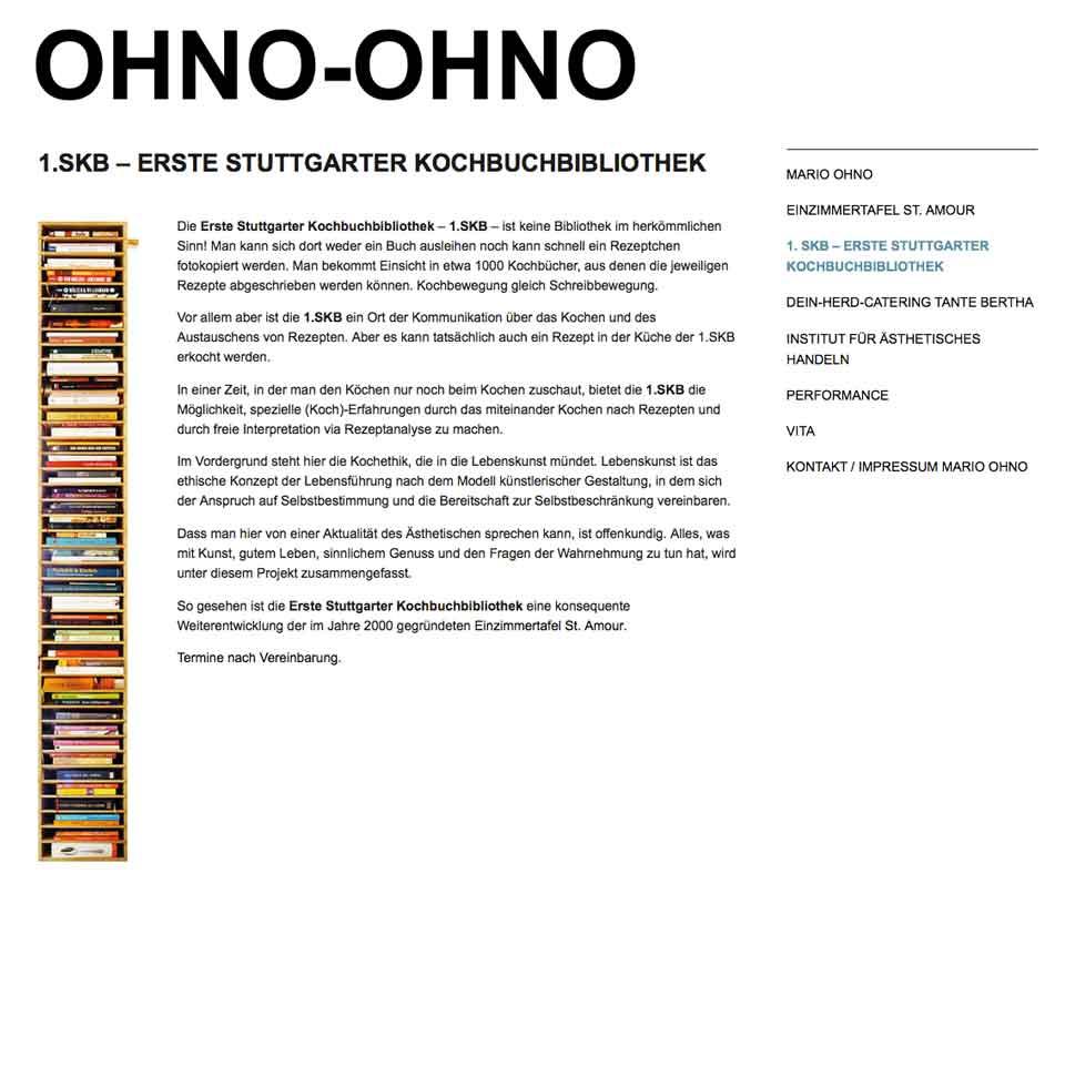 Erste Stuttgarter Kochbuchbibliothek   Ohno Ohno